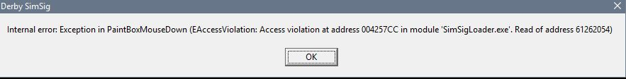 Access Violation - Sticky Notes | SimSig - Simulator of