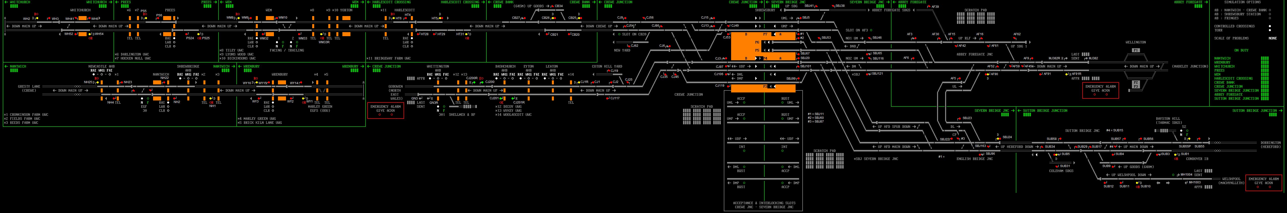 shrewsbury | SimSig - Simulator of Railway Signalling Systems