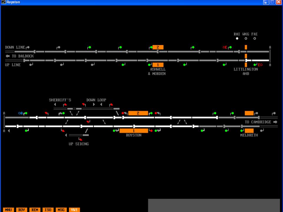 royston   SimSig - Simulator of Railway Signalling Systems